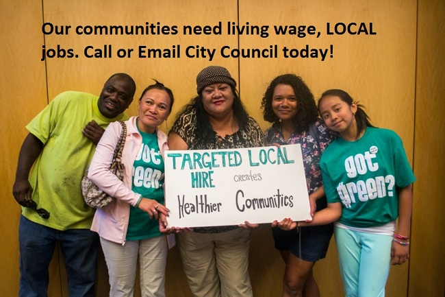 Call On City Council to Pass Targeted Local Hire Resolution on September 23!