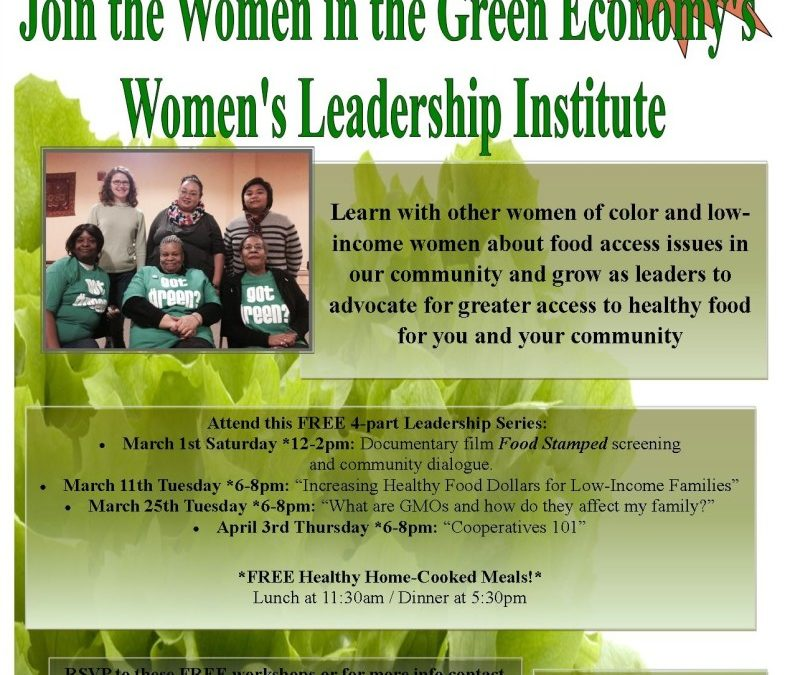 Women's Leadership Institute – Opportunity for Women of Color and Low-Income Women to Grow as Community Leaders and Expand Their Knowledge on Food Access Issues in South Seattle