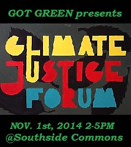RSVP for our CLIMATE JUSTICE FORUM on NOV.1st
