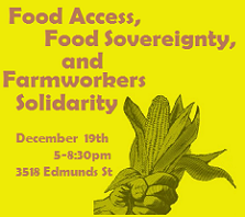 Food Access, Food Sovereignty and Farmworker Solidarity Dinner and Panel Discussion