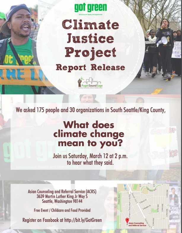 March 12, 2016 – Climate Justice Project Report Release
